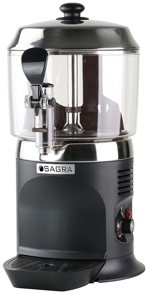 Commercial Chocolate Dispenser - Black w/ stainless top