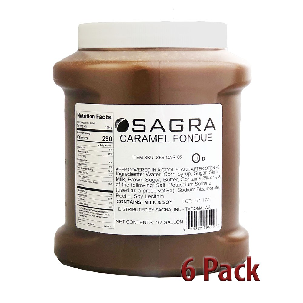 Sagra Signature Fountain Caramel - 44 lbs.