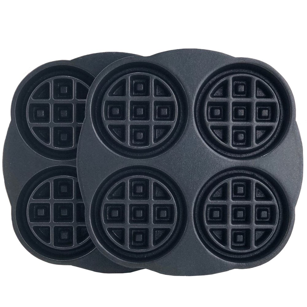 Replacement Waffle Iron Plates - Four Mini