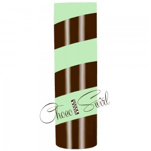 ChocoSwirl Cylinder - Chocolate Chip Mint