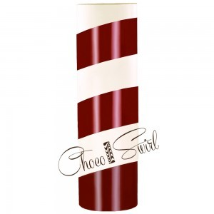 ChocoSwirl Cylinder - Peppermint and White