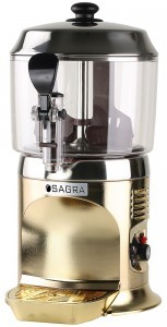 Commercial Chocolate Dispenser - Gold w/ stainless top