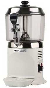 Commercial Chocolate Dispenser - White w/ stainless top
